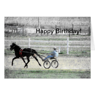 El competir con de arnés, cumpleaños tarjeta de felicitación