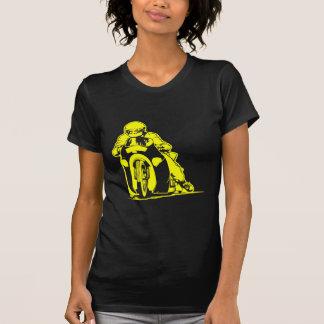 El competir con de la fricción de la motocicleta camisetas