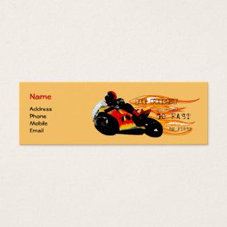 El competir con de la motocicleta tarjeta de visita pequeña