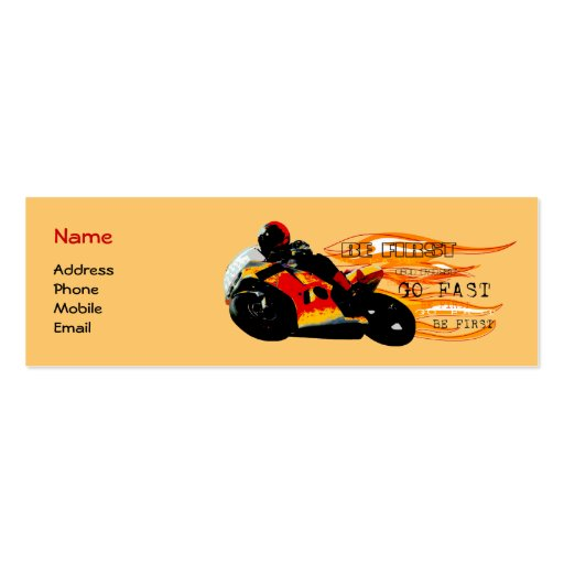 El competir con de la motocicleta tarjeta de visita