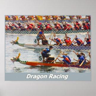 El competir con del dragón impresiones