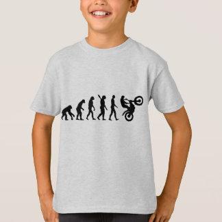 El competir con del motocrós de la evolución camiseta