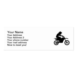 El competir con del motocrós tarjetas de visita mini