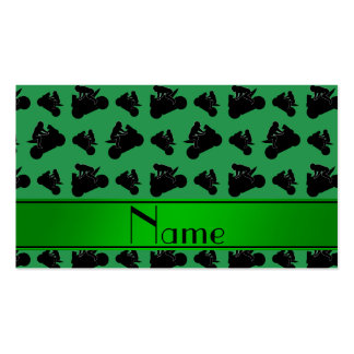 El competir con negro verde conocido personalizado tarjetas de visita