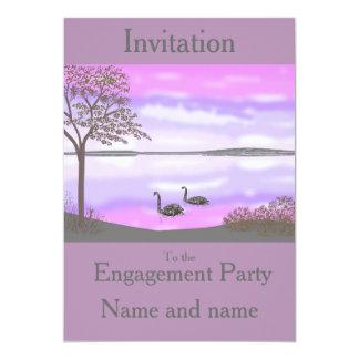 El compromiso RSVP de la escena de la puesta del Invitación 12,7 X 17,8 Cm