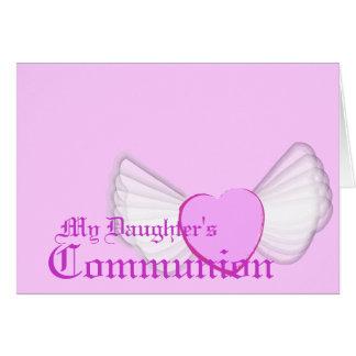 El Comunión-Personalizar de mi hija Tarjeta De Felicitación