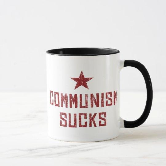 El comunismo chupa - al comunista anti de América Taza