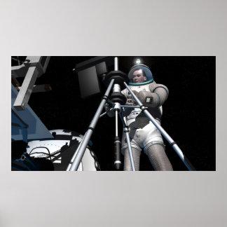 El concepto del artista de exploración espacial póster