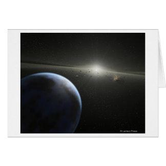 El concepto del artista de una fotografía astroide tarjeta