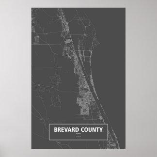 El condado de Brevard, la Florida (blanca en Póster