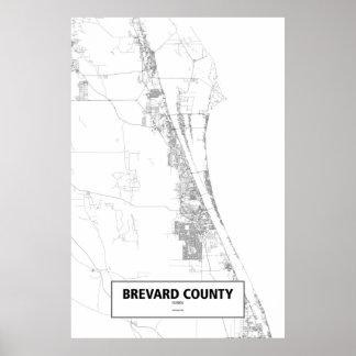 El condado de Brevard, la Florida (negro en Póster