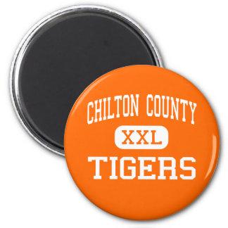 El condado de Chilton - tigres - alto - Clanton Al Imán Redondo 5 Cm