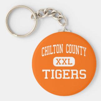 El condado de Chilton - tigres - alto - Clanton Al Llavero Redondo Tipo Chapa