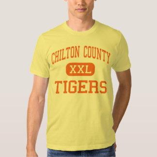 El condado de Chilton - tigres - alto - Clanton Camisetas