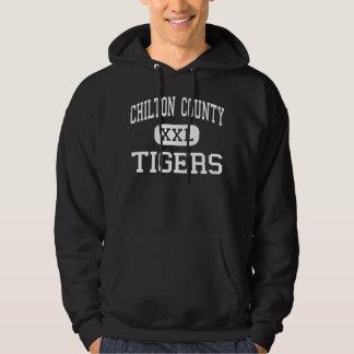 El condado de Chilton - tigres - alto - Clanton Suéter Con Capucha
