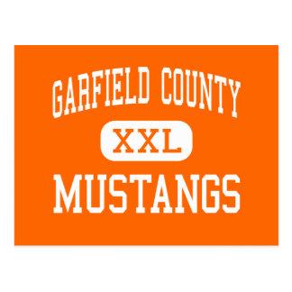 El condado de Garfield - mustangos - distrito - Postal