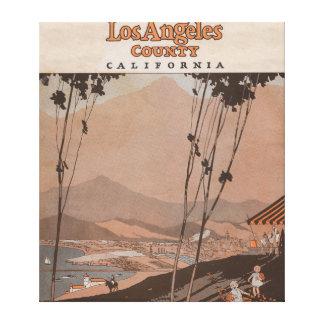 El condado de Los Angeles, California Impresion En Lona