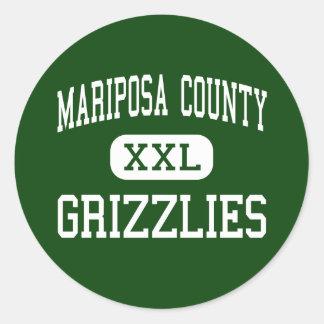 El condado de Mariposa - grisáceos - alto - Maripo Etiqueta