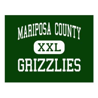 El condado de Mariposa - grisáceos - alto - Maripo Tarjetas Postales