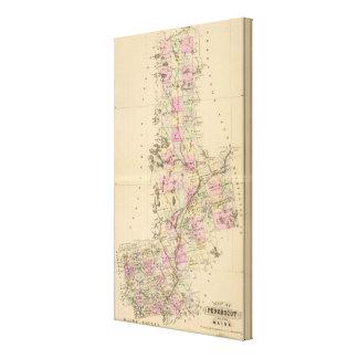 El condado de Penobscot Maine Impresión En Lienzo Estirada