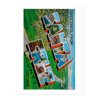 El condado de Santa Cruz California Tarjeta Postal
