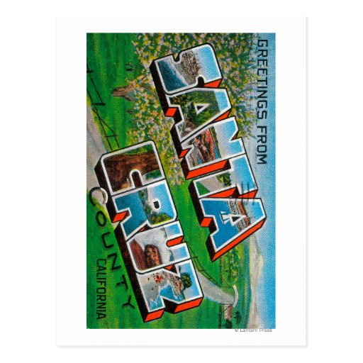 El condado de Santa Cruz, California Tarjeta Postal