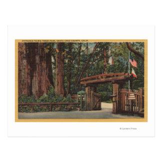 El condado de Santa Cruz, entrada de CA al parque Postal