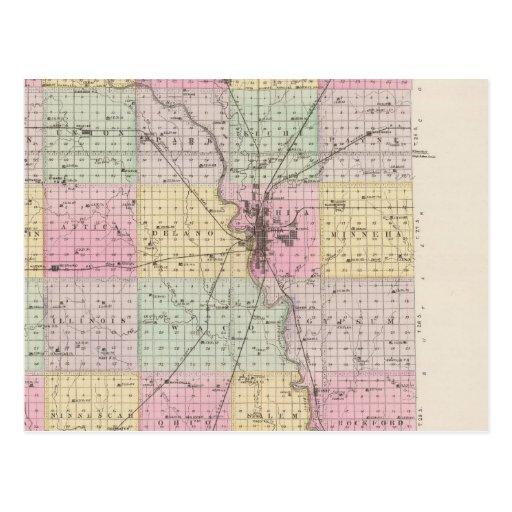 El condado de Sedgwick, esperanza del soporte, y D Tarjeta Postal