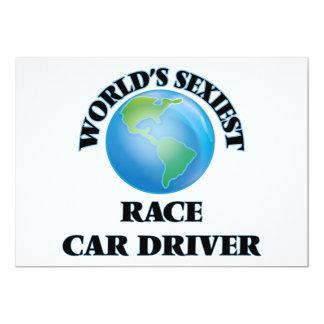 El conductor del coche de carreras más atractivo invitación 12,7 x 17,8 cm