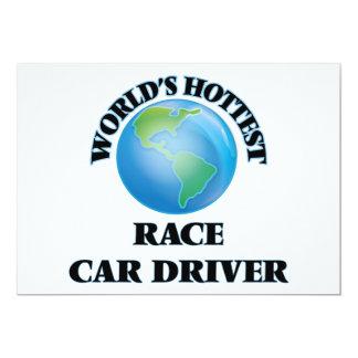 El conductor del coche de carreras más caliente invitación 12,7 x 17,8 cm