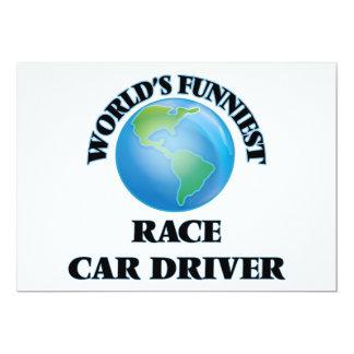 El conductor del coche de carreras más divertido invitación 12,7 x 17,8 cm