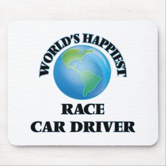El conductor del coche de carreras más feliz del alfombrilla de ratón