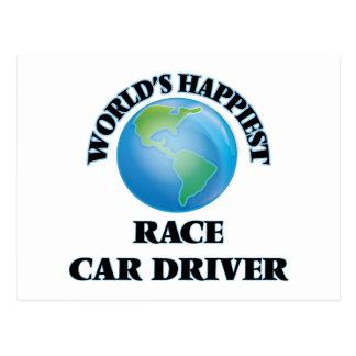 El conductor del coche de carreras más feliz del postal