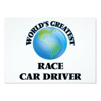 El conductor del coche de carreras más grande del invitación 12,7 x 17,8 cm