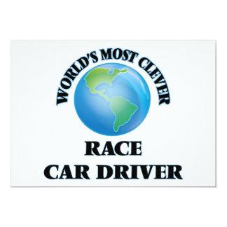 El conductor del coche de carreras más listo del invitación 12,7 x 17,8 cm