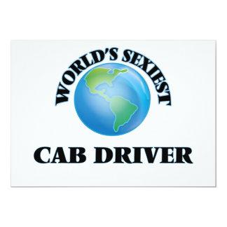 El conductor del taxi más atractivo del mundo invitación 12,7 x 17,8 cm