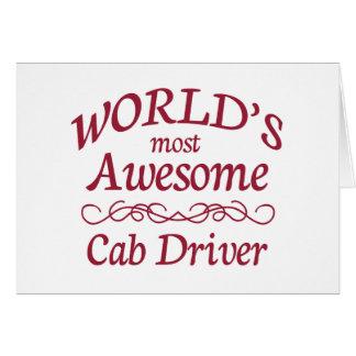 El conductor del taxi más impresionante del mundo tarjeta de felicitación