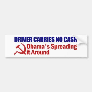 El conductor no lleva ningún efectivo pegatina para coche