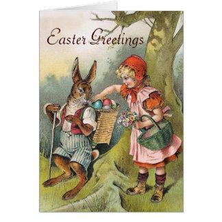 El conejito de pascua bávaro Eggs la tarjeta del