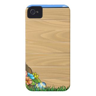 El conejito de pascua del dibujo animado Eggs la Carcasa Para iPhone 4 De Case-Mate
