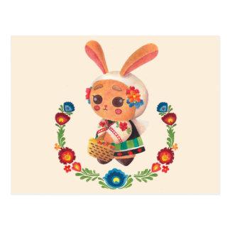 El conejito del polaco de la flor postal