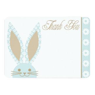 El conejo de conejito azul le agradece cardar invitación 12,7 x 17,8 cm