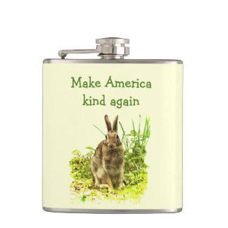 El conejo de conejito dulce hace el frasco de la petaca