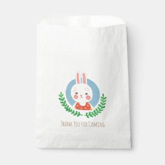 El conejo lindo bolsa de papel