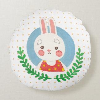 El conejo lindo cojín redondo