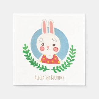 El conejo lindo servilleta de papel