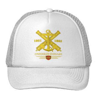 El confederado indica a la marina de guerra 2 gorros
