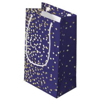 El confeti del oro puntea el boda elegante del bolsa de regalo pequeña