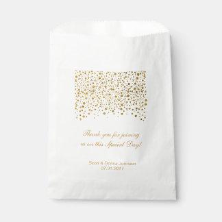 El confeti del oro que casa el | personaliza bolsa de papel