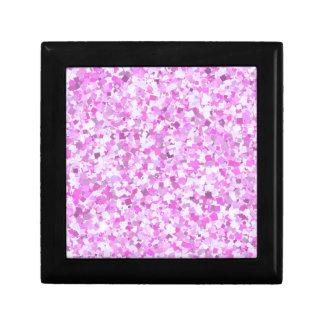 El confeti rosado de la pintada de la plantilla caja de joyas